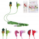 wholesale Headphones: wired times assorted flamingo, 3- times assorted