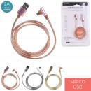 cable chg rapide 2a sync micro usb metal, 3-fois a
