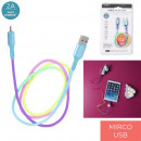 cable charge and syncro micro usb rainbow