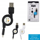 wholesale Computer & Telecommunications: retractable charging and sync cable Iphone , 2 F