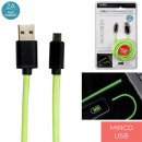 grossiste Informatique et Telecommunications: cable rapide 2a phosphorescent 2m micro usb