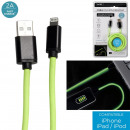 grossiste Informatique et Telecommunications: cable rapide 2a phosphorescent 2m iphone