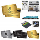 metal rfid anti-hacking card, 3-fold assorted