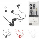 Earphones flat cable, 3-times assorted