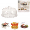 Cake stand 4in1, 1-fold assorted