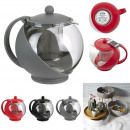 1.2l teapot with infuser ball, 3-times assorted