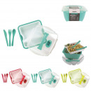 lunch box a compartiments x3 et couverts x3, 3-foi