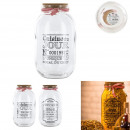 glass jar with cork stopper 3l, 2-times assorted