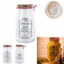 Glass jar with stopper liege 1500ml, 2-times asso