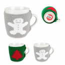 Mug knit 350ml, 3- times assorted