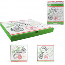 pizza box 28cm, 2 times assorted