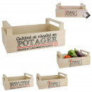 Großhandel Kleinmöbel: Regal Gemüse Holz, 2- fach sortiert