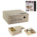 wood cheese cellar with knife, 1- times assorted