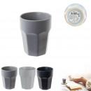 mug matte ceramic faceted 255 ml, 3- times assorte