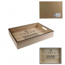 wooden lunch tray 34.5x26.6cm, 1- times assorted