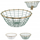 metal and bamboo basket 29cm, 2- times assorted