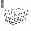 wholesale Home & Living: wired kitchen storage basket mm black, 3-faith