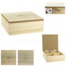 caja de te de madera oslo, 2- veces surtido