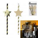 festive straw star x10, 1- times assorted
