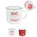 mug vintage ceramique noel 35cl, 2-fois assorti