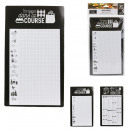 memo black and white shopping list, 2-times assort