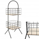 wholesale Figures & Sculptures: wired storage rack 2 baskets h80cm