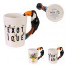 mug anse 3d toucan exotique 30cl, 2-fois assorti