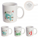 lazy right mug 30cl, 3- times assorted