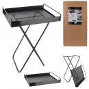 raised metal tray 44x33x45cm