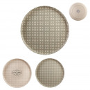 plate Bamboo fiber little market 25cm, 2-