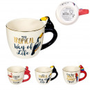 mug 3d anse animal 25cl, 3-fois assorti