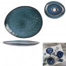 plate pebble 27.5x23cm at the time of the blue tim