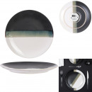plate flat 27cm black and white