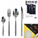 wholesale Cutlery: 16 pieces matt shiny stainless steel