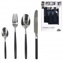 wholesale Cutlery: 16 pieces stainless steel handle black