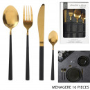 housewife 16 pieces gold black handle