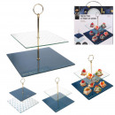 wholesale Household & Kitchen: 2-storey glass presentation dish shine, 2-fo