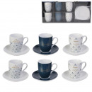 Kaffeetasse mit Tasse x6 Glanz eingestellt