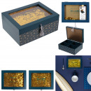 Holzkiste 20x7.9x1.5 Glanz, 2- fach sortiert