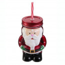 wholesale Drinking Glasses: mason jar father noel 45cl