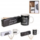 mug with box set happy working 30cl, 2-faith