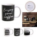 mug happy working 30cl, 4- times assorted