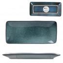 coupelle rectangle gres du temps 10x22cm bleu