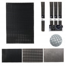 wholesale Table Linen: black and silver table set 30x45cm, 3-fold assor