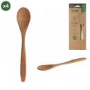 bamboo spoon x4