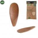 ízű kanál bambusz x4