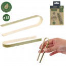 pince de service bambou x18 10cm