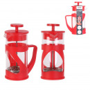cafetiere a piston rouge 35cl 3 tasses