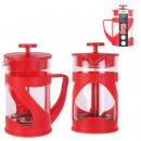 cafetiere a piston rouge 80cl 7 tasses