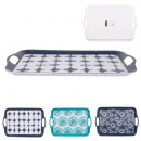 blue lagoon tray 46x31cm, 3- times assorted